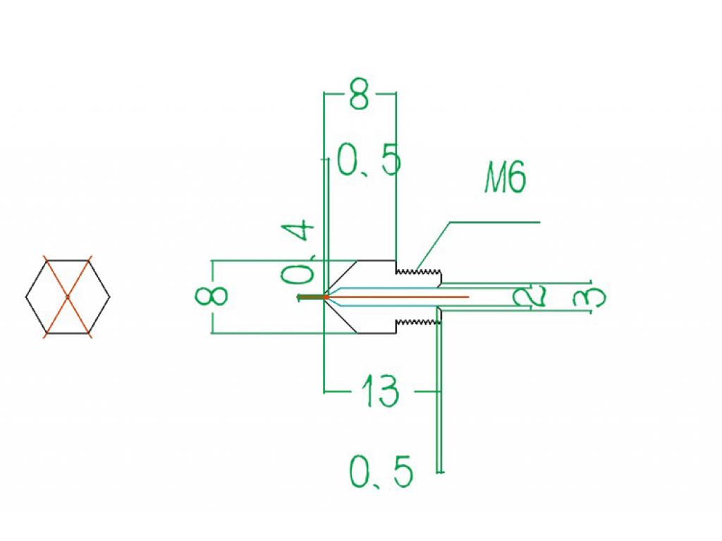 Сопло для 3D-принтера MK8, 0,5 мм