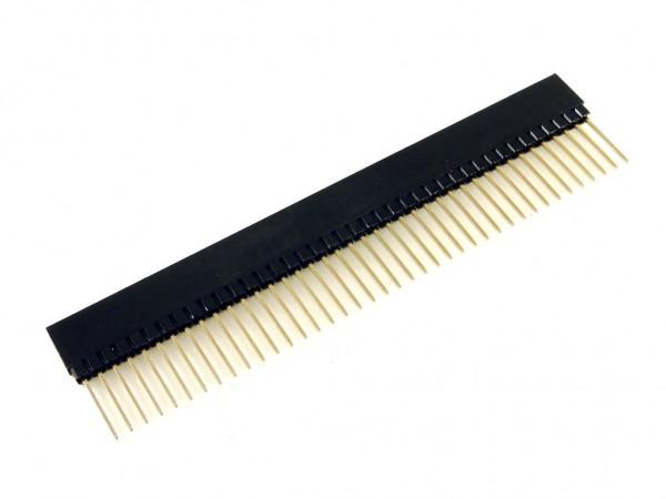 Разъем штыревой 40-pin, вилка-розетка, шаг 2.54