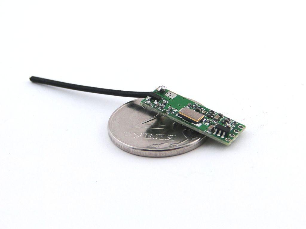 Видео-передатчик микро, композитный, 50мВт, 2.4ГГц
