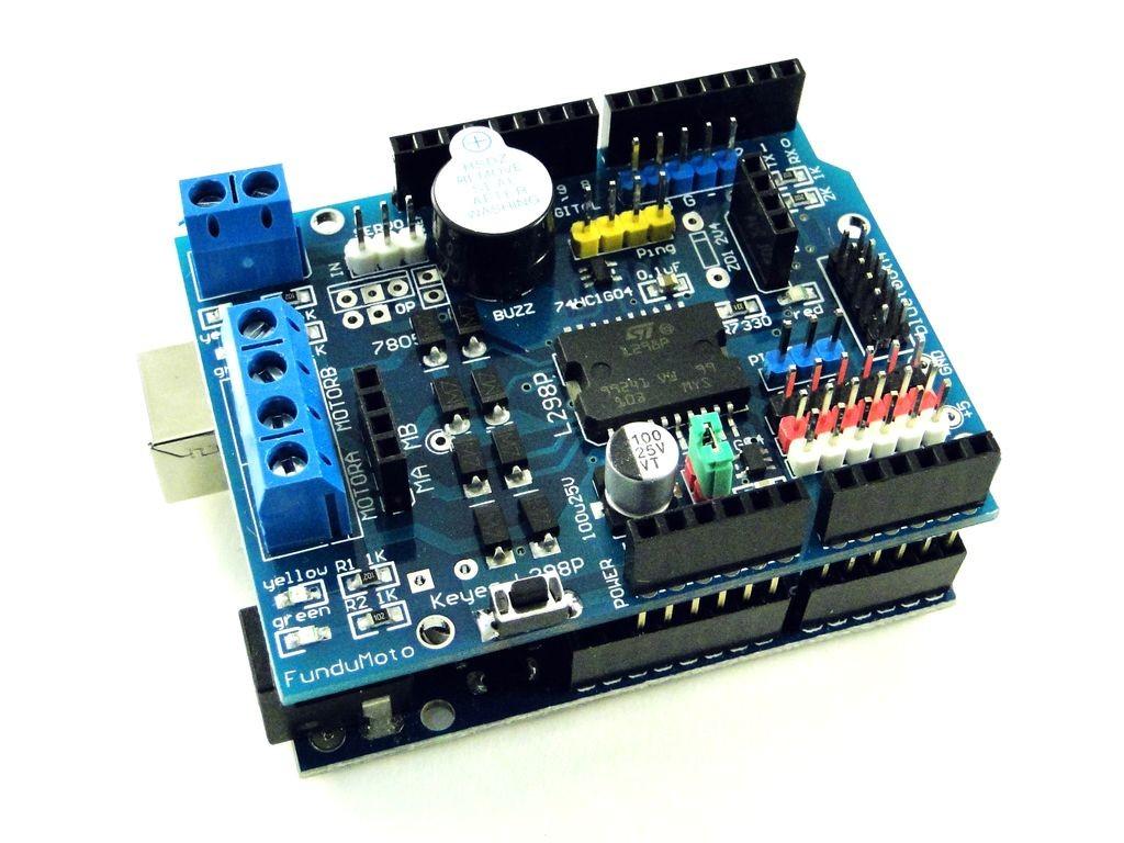 Драйвер двигателей для Arduino на L298P