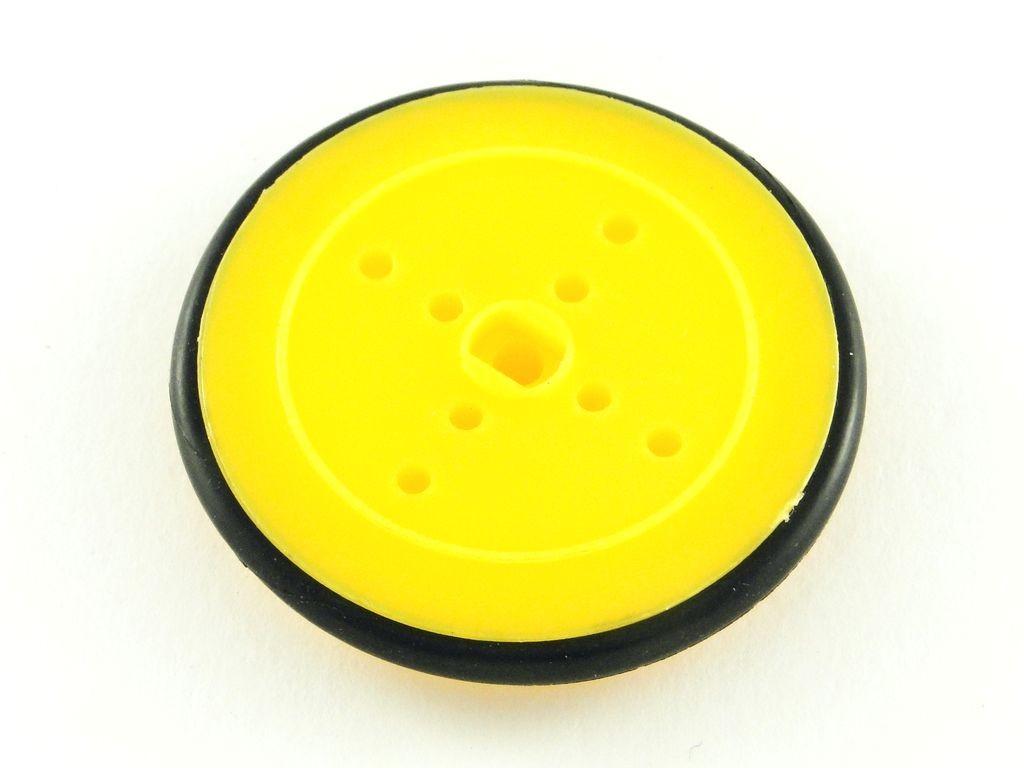 Колесо для TT мотора с резиновой шиной, D=40мм, P=4мм