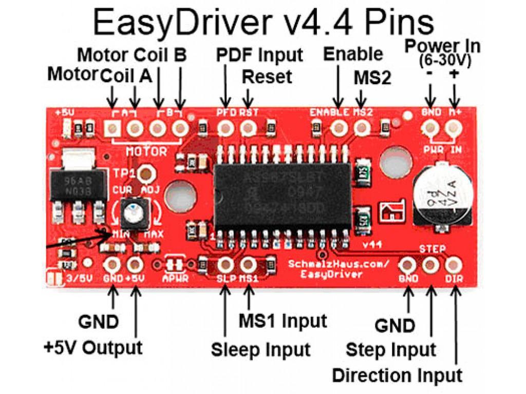 Драйвер шагового двигателя A3967 (EasyDriver 4.4)