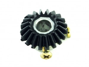 Коническая шестерня модуль 1, 20 зубов, D = 8 мм