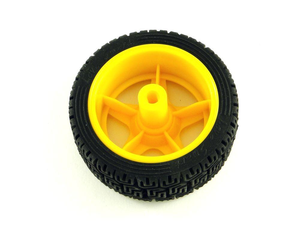 Колесо V2 для TT мотора с резиновой шиной, D=65мм, P=27мм