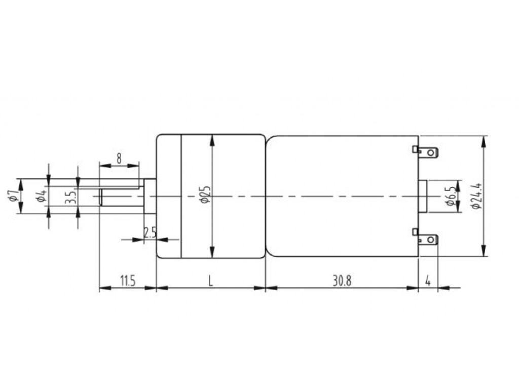 Двигатель с редуктором JGA25-370