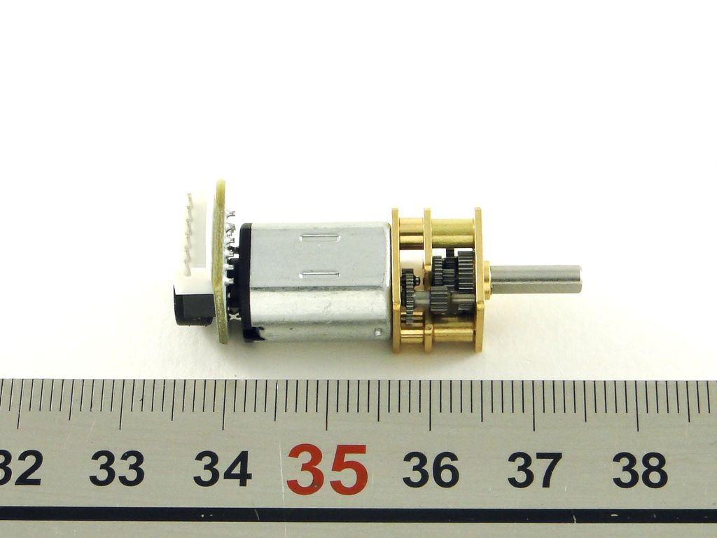 Двигатель с редуктором и энкодером GA12-N20, 100 об/мин