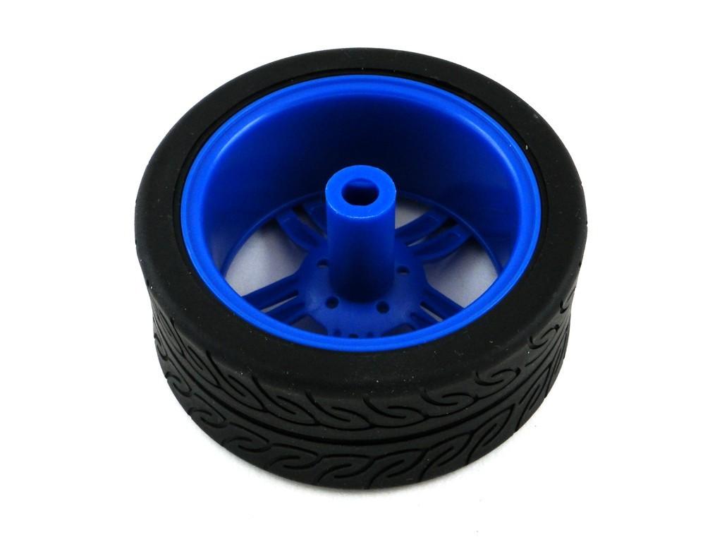 Колесо V3 для TT мотора с резиновой шиной, D=65мм, P=27мм