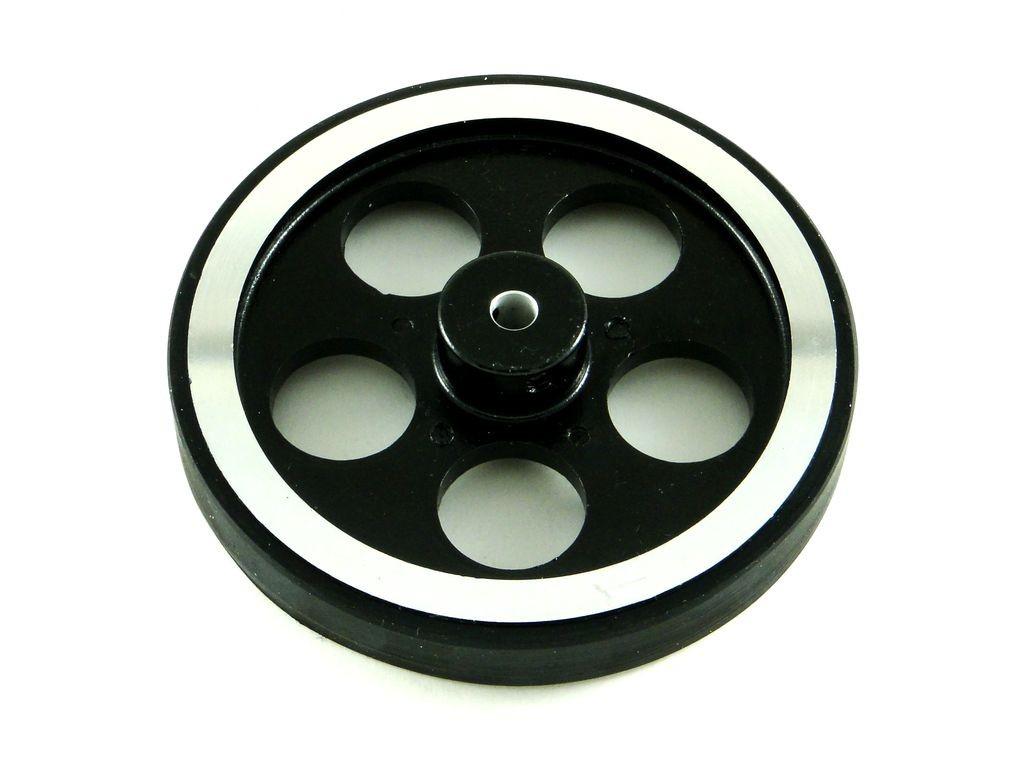 Алюминиевое колесо с резиновой накладкой, D=95мм