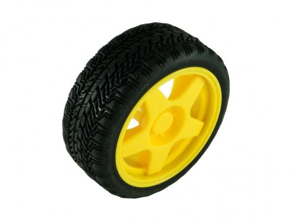 Колесо V1 для TT мотора с резиновой шиной, D=65мм, P=27мм