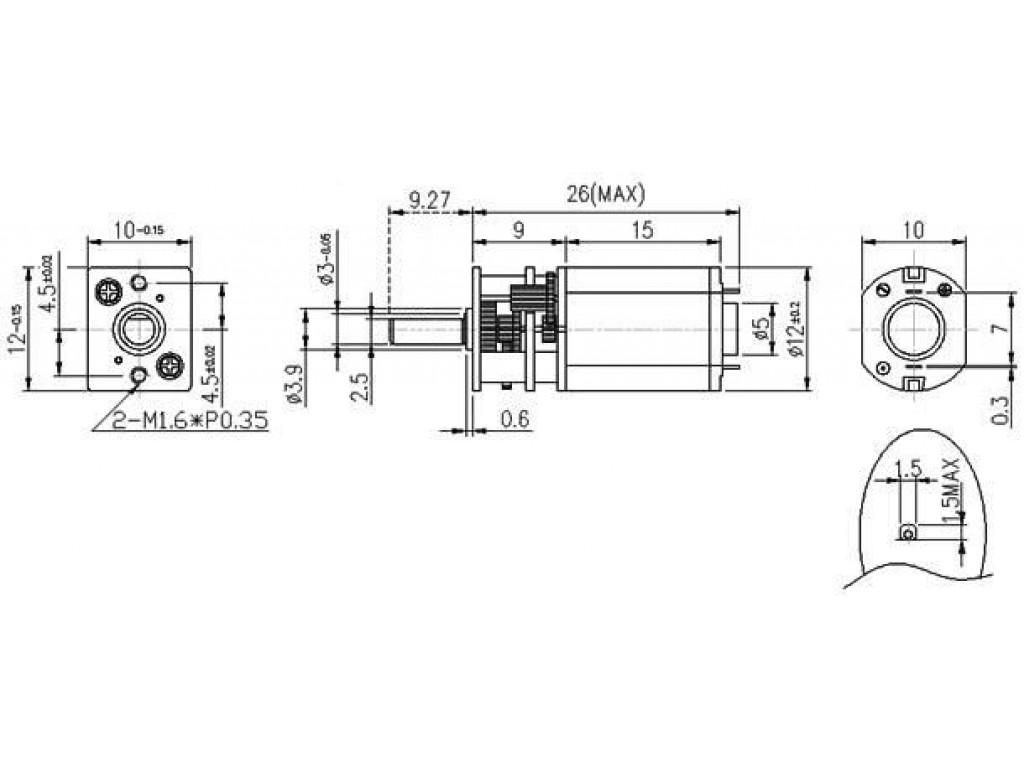 Двигатель с редуктором GA12-N20