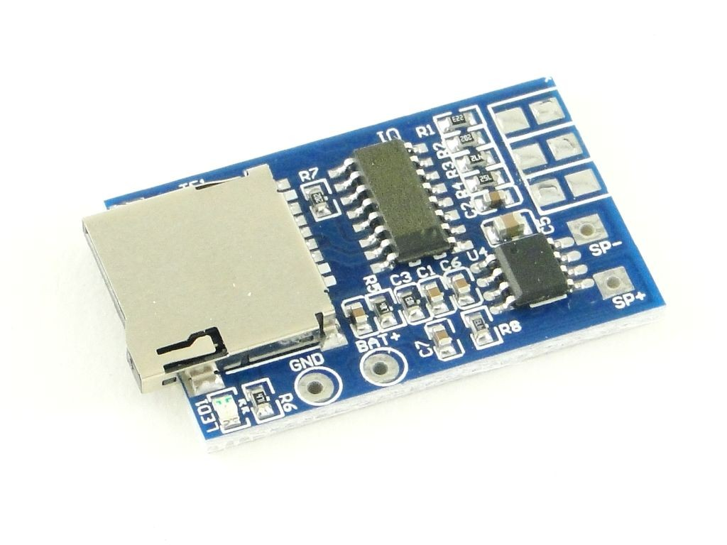 Звуковой модуль с sd картой, MP3