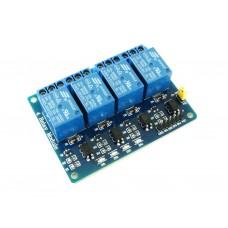 Релейный модуль, 4-х канальный, с опторазвязкой