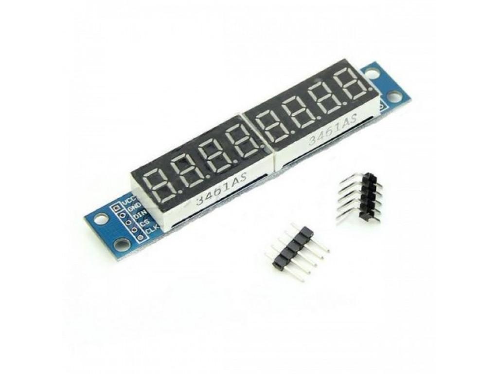 Индикатор семисегментный, 8 цифр, max7219