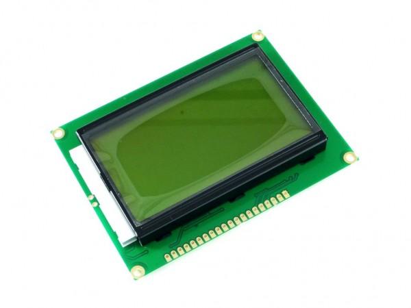 Дисплей ЖК графический 128х64, жёлтая подсветка