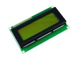 Дисплей ЖК 20х4 (2004), желто-зеленая подсветка (без кириллицы)