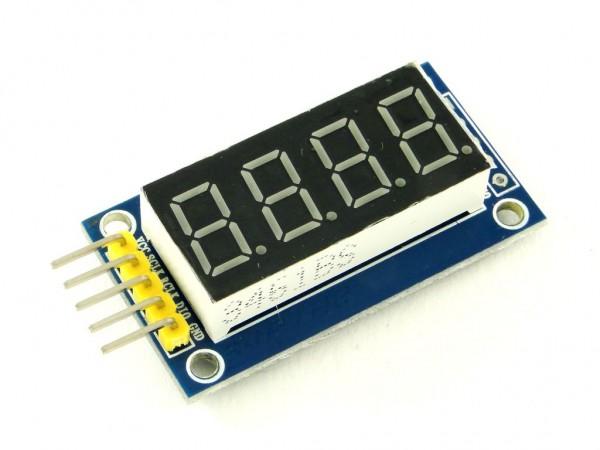 Индикатор семисегментный, 4 цифры, с регистром