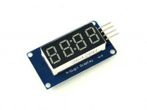 Индикатор семисегментный, 4 цифры, TM1637
