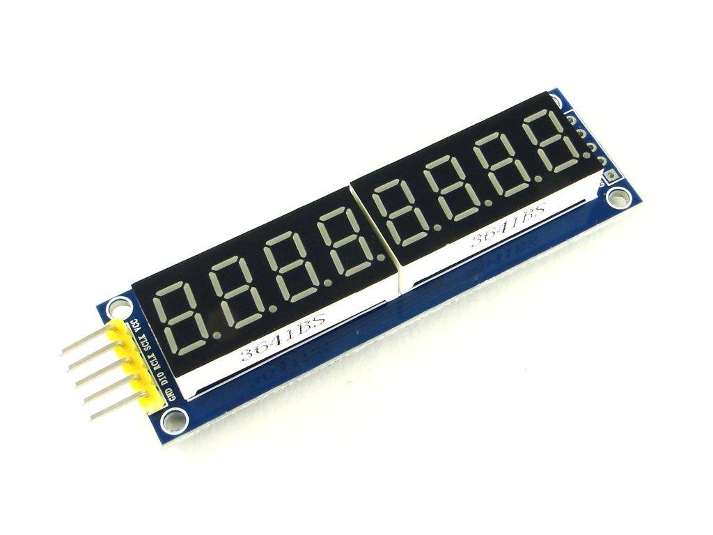 Индикатор семисегментный, 8 цифр, с регистром