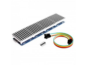 Сборка из четырёх светодиодных матриц 8x8 с управлением (MAX7219)