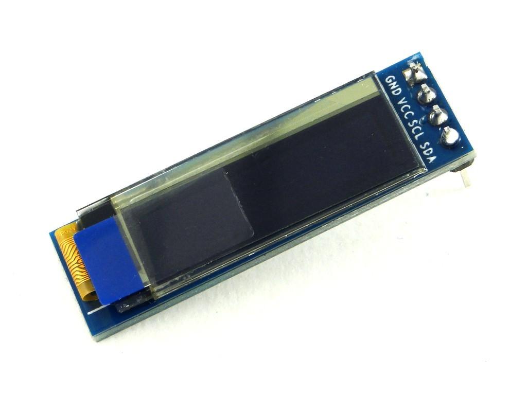 Дисплей OLED, 0.91'', I2C, белый