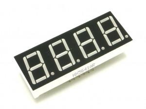 Индикатор семисегментный - четыре цифры, красный, 19мм