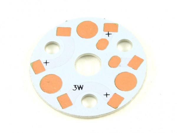 Алюминиевая плата для трёх мощных светодиодов