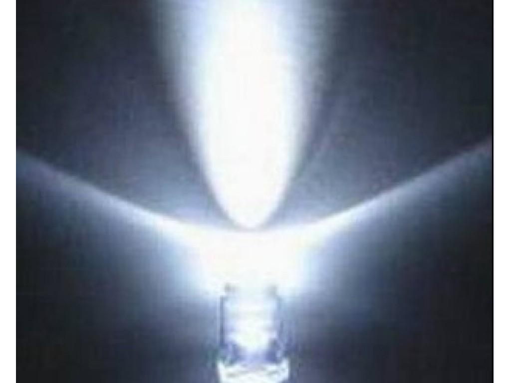Светодиод белый, 5мм, прозрачная линза (5 штук)