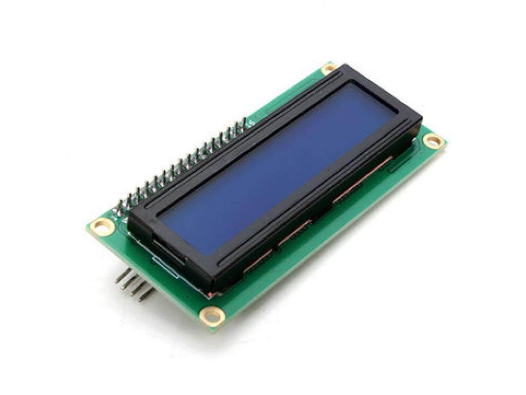 Дисплей ЖК 16х2 (1602), I2C, синяя подсветка