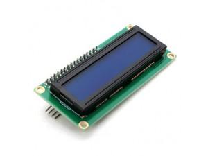Дисплей ЖК 16х2 (1602), I2C, синяя подсветка (без кириллицы)