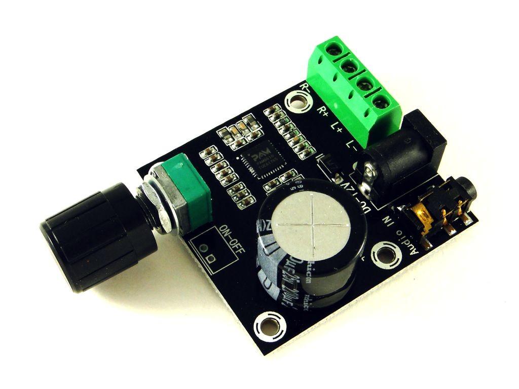 Усилитель звука на основе pam8610 с регулятором