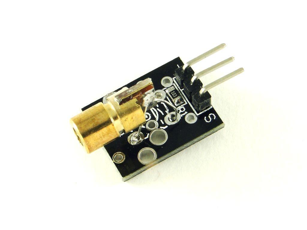 Лазерный модуль на плате, красный, 5мВт