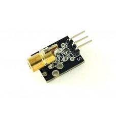 Лазерный модуль на плате, точка, 5мВт