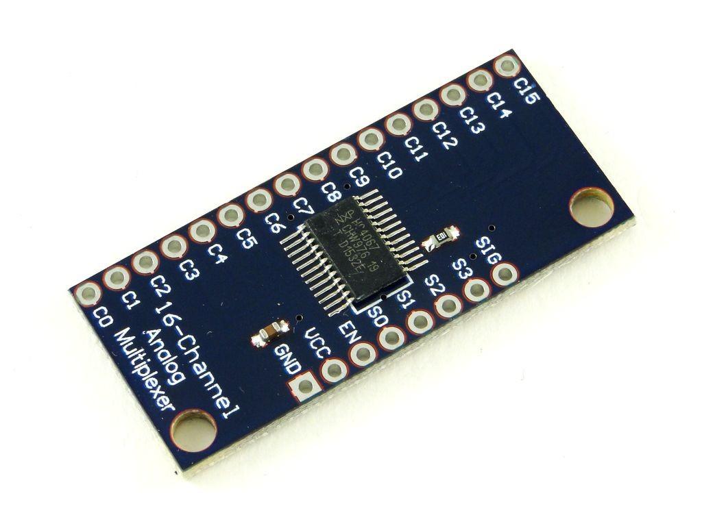 Мультиплексор аналоговый, 16 каналов