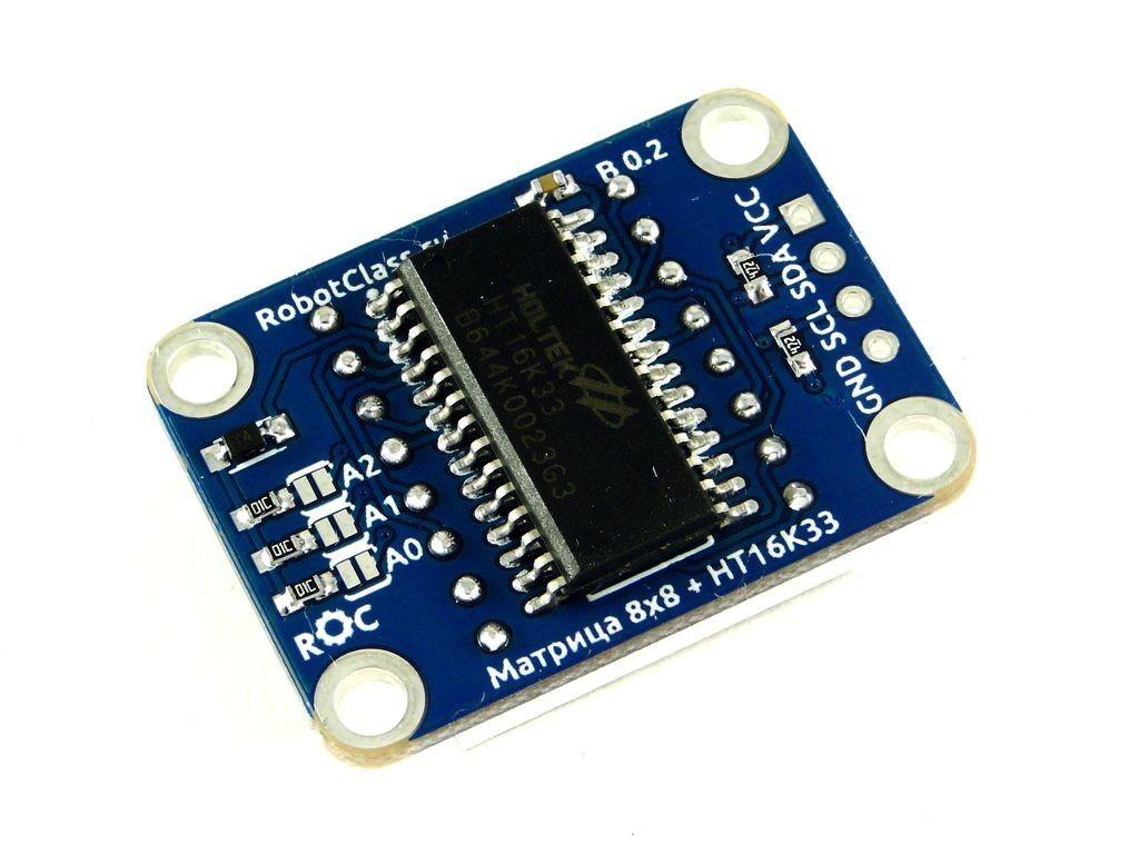 Светодиодная матрица 8x8 с I2C интерфейсом, ROC