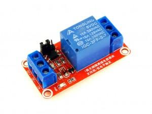 Релейный модуль с выбором уровня и опторазвязкой, 1-канальный