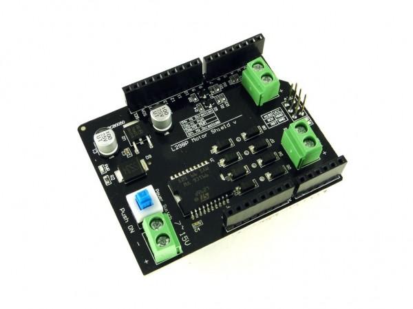 Драйвер двигателей для Arduino на L298P V1.1