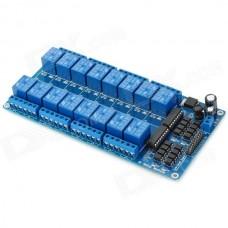 Релейный модуль, 16-х канальный, с опторазвязкой