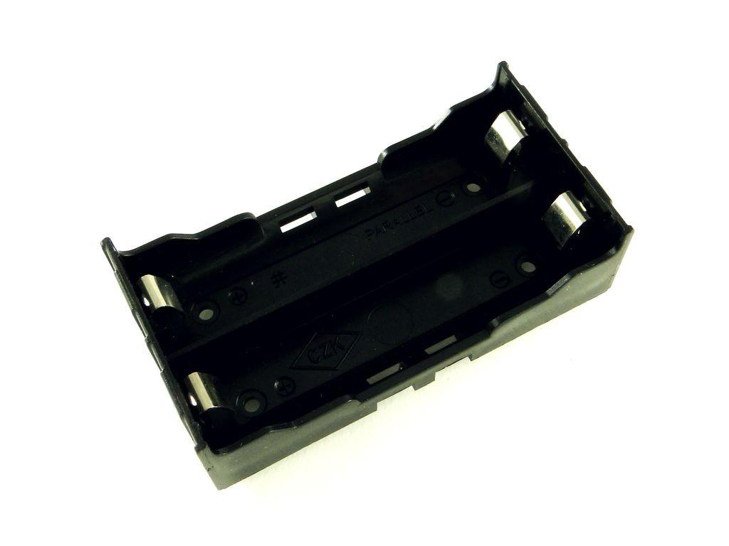 Корпус для двух аккумуляторов 18650, под плату