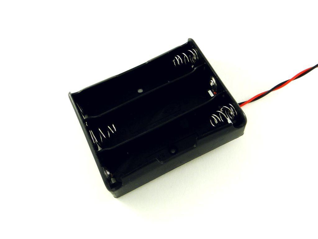 Держатель для трех аккумуляторов 18650