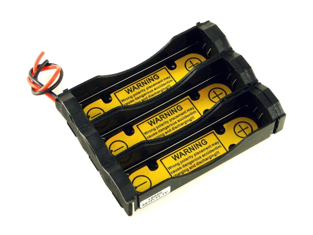 Корпус для трёх аккумуляторов 18650 с защитой