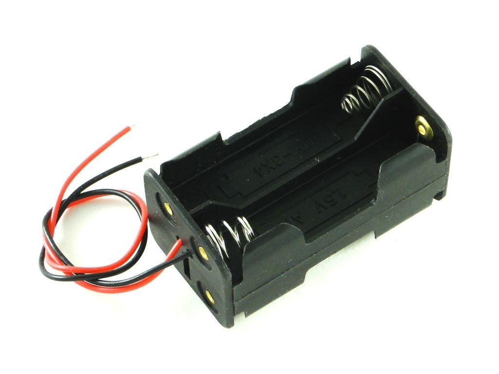 Корпус для четырех батарей AA, 2X2