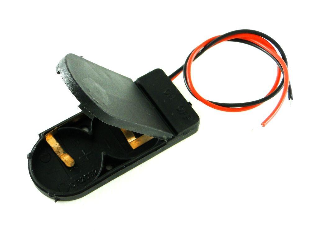 Держатель для двух батарей CR2032, с выключателем CH2