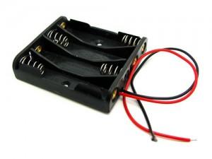 Корпус для четырех батарей AA