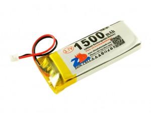 Аккумулятор liPo 1500 мАч, 3,7В, с разъемом ZH1,25
