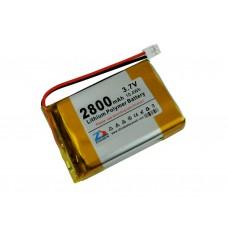 Аккумулятор liPo 2800 мАч, 3,7В, с разъемом PH2,0