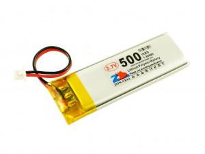 Аккумулятор liPo 500 мАч, 3,7В, с разъемом ZH1,25