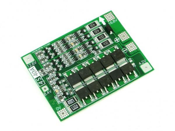 Модуль балансировки и защиты четырёх аккумуляторов Li-Ion, 20А