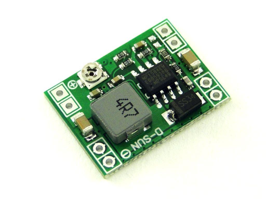Преобразователь понижающий, импульсный (StepDown) на базе MP1584, 3A