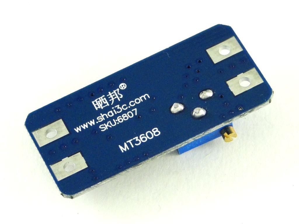 Преобразователь повышающий, импульсный (StepUp) на базе MT3608, 2A