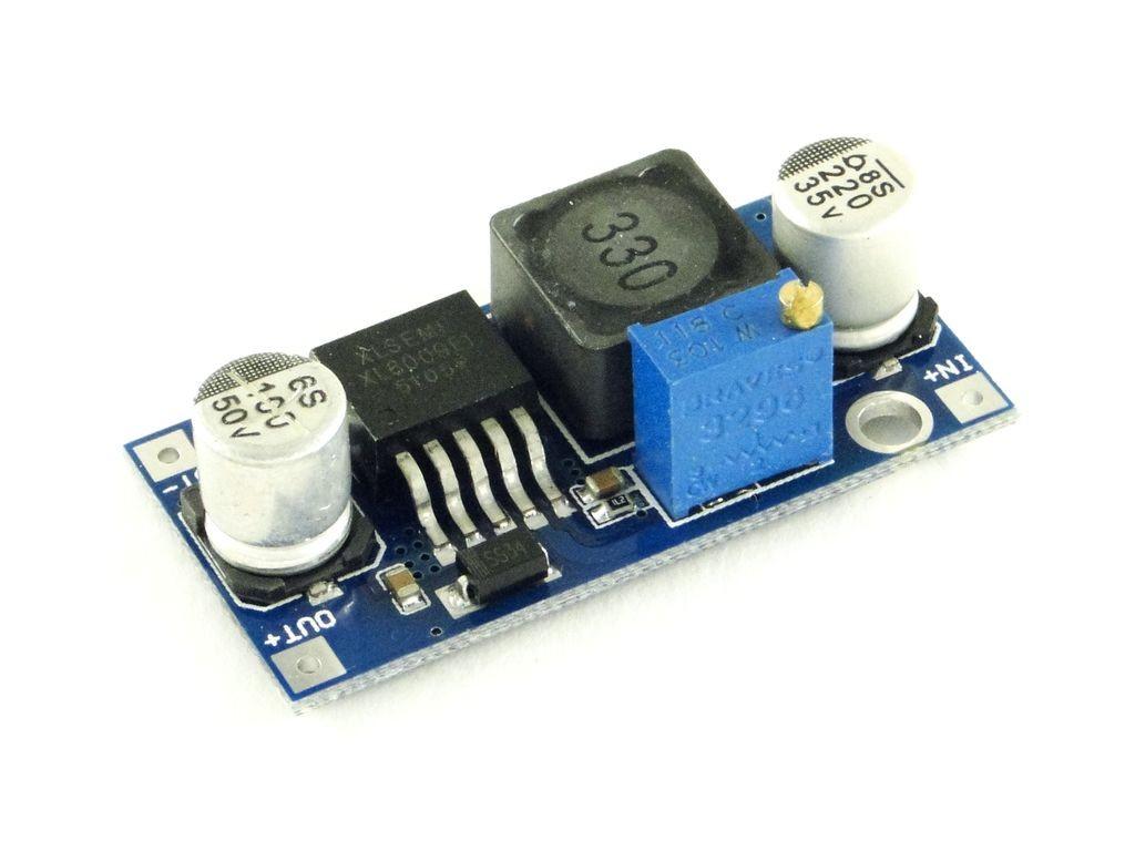 Преобразователь повышающий, импульсный (StepUp) на базе XL6009, 3A